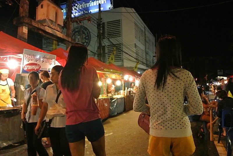 File:Night Market at Hat-Yai Thailand.JPG