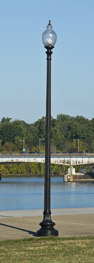 Street lighting in the District of Columbia - An example of the Number 13/Number 14/Number 16/Number 18 street light used in Washington D.C.