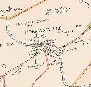 Normansville, New York - Map of Normansville in 1891