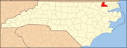 Hertford County map North Carolina Map Highlighting Hertford County.PNG