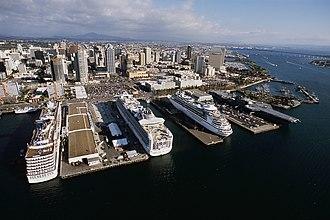 Embarcadero (San Diego) - North Embarcadero in 2006