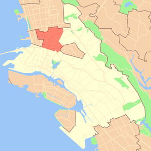 North Oakland, Oakland, California - Location of North Oakland in the City of Oakland.