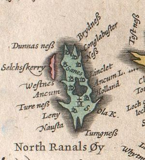 North Ronaldsay - Blaeu's Atlas of Scotland, published 1654