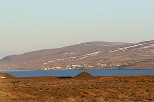 North across Miðfjörður to Hvammstangi, November 2007