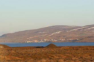 Hvammstangi - North across Miðfjörður to Hvammstangi, November 2007