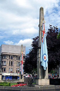 First World War memorial on Wood Hill in the centre of Northampton, England