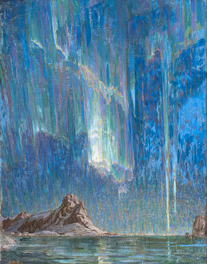 Anna Boberg - Anna Boberg, Northern Lights, oil on canvas, n.d.