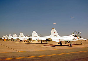 560th Flying Training Squadron - 560 FTS T-38A Talons at their Randolph AFB home in 1975