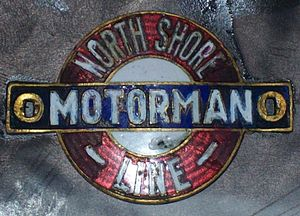 Chicago North Shore and Milwaukee Railroad - Hat pin from motorman on the Chicago, North Shore and Milwaukee railroad.