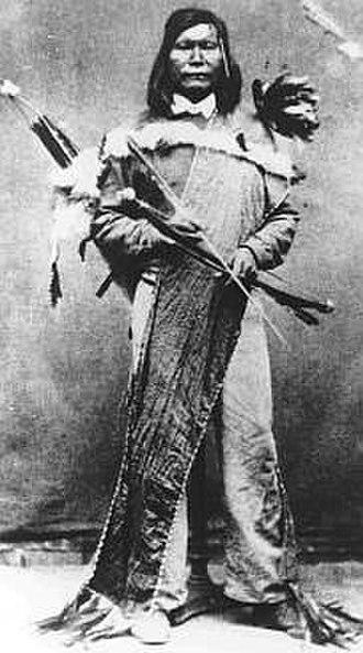 """Sarah Winnemucca - Numaga, or """"Young Winnemucca"""", Sarah Winnemucca's cousin and war leader of the Paiute in the Pyramid Lake War."""
