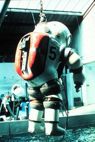 JIM suit - A JIM suit used by NOAA is recovered from the water