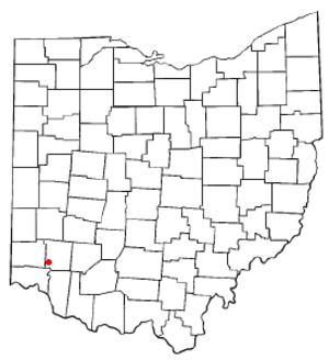 Mason, Ohio - Image: OH Map doton Mason