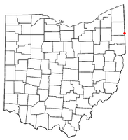 Location of Masury, Ohio