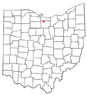 Monroeville, Ohio - Image: OH Map doton Monroeville