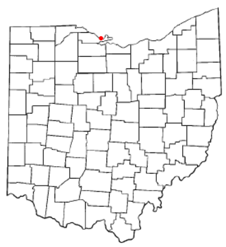 Port Clinton, Ohio - Image: OH Map doton Port Clinton