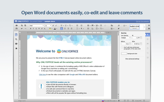OnlyOffice - Image: ONLYOFFICE text editor