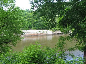 Occoquan, Virginia - The Occoquan River as it passes the town