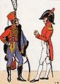 Officiers des hussards Jérôme-Napoléon en grande tenue et tenue de société, 1814.jpg