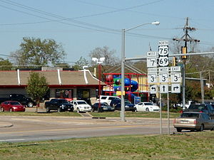 Oklahoma State Highway 3 - SH-3 intersects US 69/US 75, SH-7, and Bypass SH-3 in Atoka.