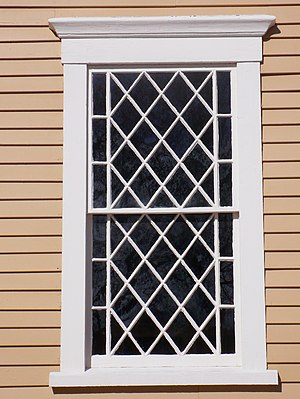 Old Ship Church - Detail, window, Old Ship Church, Hingham