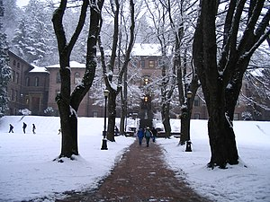 Bellingham, Washington - Old Main, Western Washington University in winter.