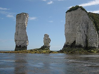 Old Harry Rocks - Old Harry and his (latest) wife