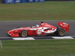 Panoz DP09 - Kasper Andersen driving the DP09 in the first ever Superleague Formula round.