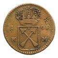 Ompräglat mynt från 1719 - Skoklosters slott - 109380.tif