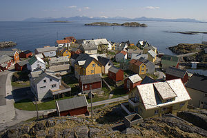 Ona, Sandøy - View of Ona village
