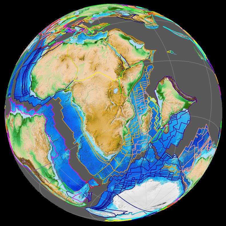 Opening of western Indian Ocean 70 Ma