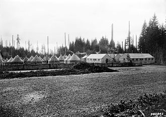 Timberline Lodge - WPA workers lived in a nearby tent city while building Timberline Lodge (1936)