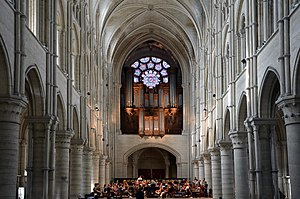 Cathedrale of Laon, Aisne, France. The orchest...