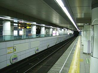 Minami-morimachi Station - The Tanimachi Line platforms
