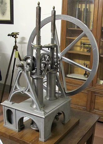 History of the internal combustion engine - Model of the Barsanti-Matteucci engine (1853) in the Osservatorio Ximeniano in Florence