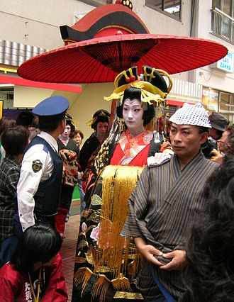 Oiran - Parade of Oiran in Ōsu, Nagoya