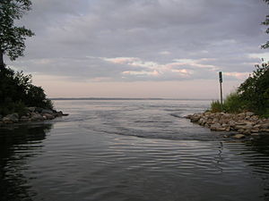 Otter Tail Lake - Otter Tail Lake, at the Otter Tail River inlet
