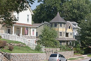 Lauraville, Baltimore - Houses along Overland Avenue, August 2011