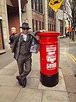 P&T red pillar box (1916 Celebrations 2016) Liberty Hall 3.JPG