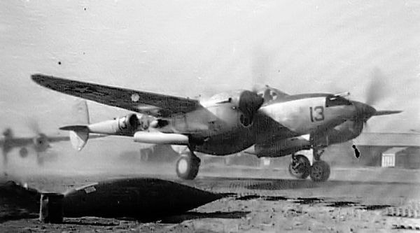 P-38 of the 48th Fighter Squadron - Taken in North Africa