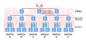 Bowling Revolution P-League - Bracket system used in tournaments 14 and later.