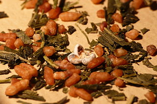 <i>Genmaicha</i> Japanese brown rice green tea