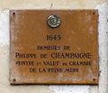 P1290426 Paris IV quai de Bourbon N11 plaque rwk.jpg