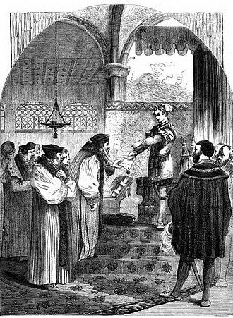 British Anabaptism - Joan Bocher of Kent burning