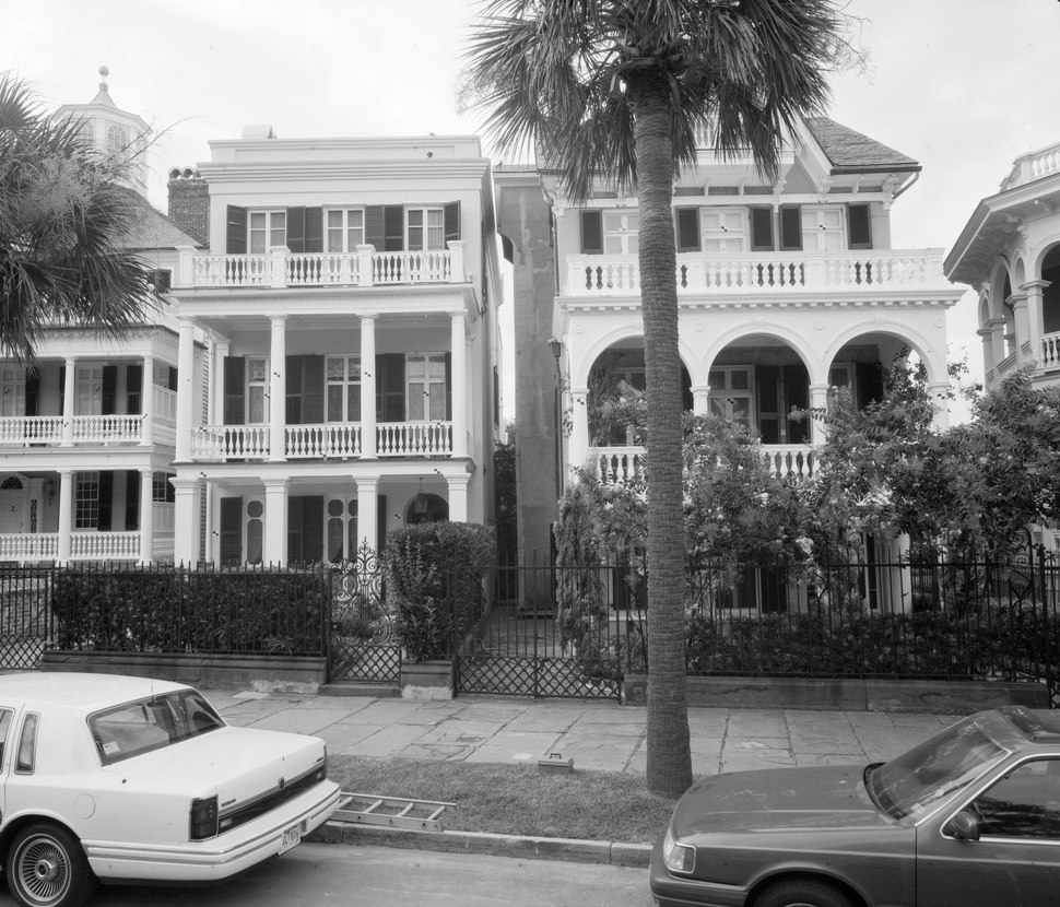 PHOTOGRAMMETRIC IMAGE- SOUTH FRONT ELEVATION, INCLUDES -28 SOUTH BATTERY - James E. Spear House, 30 South Battery Street, Charleston, Charleston County, SC HABS SC,10-CHAR,360-7