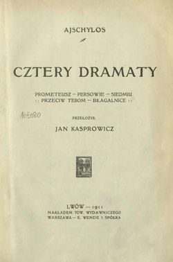 Cztery Dramaty Ajschyloscałość Wikiźródła Wolna Biblioteka