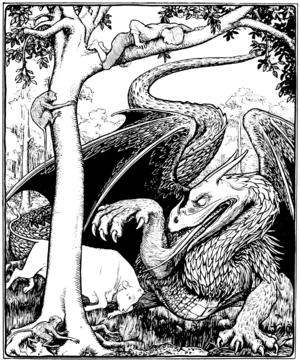 The Little Bull-Calf - Illustration by John D. Batten for More English Fairy Tales