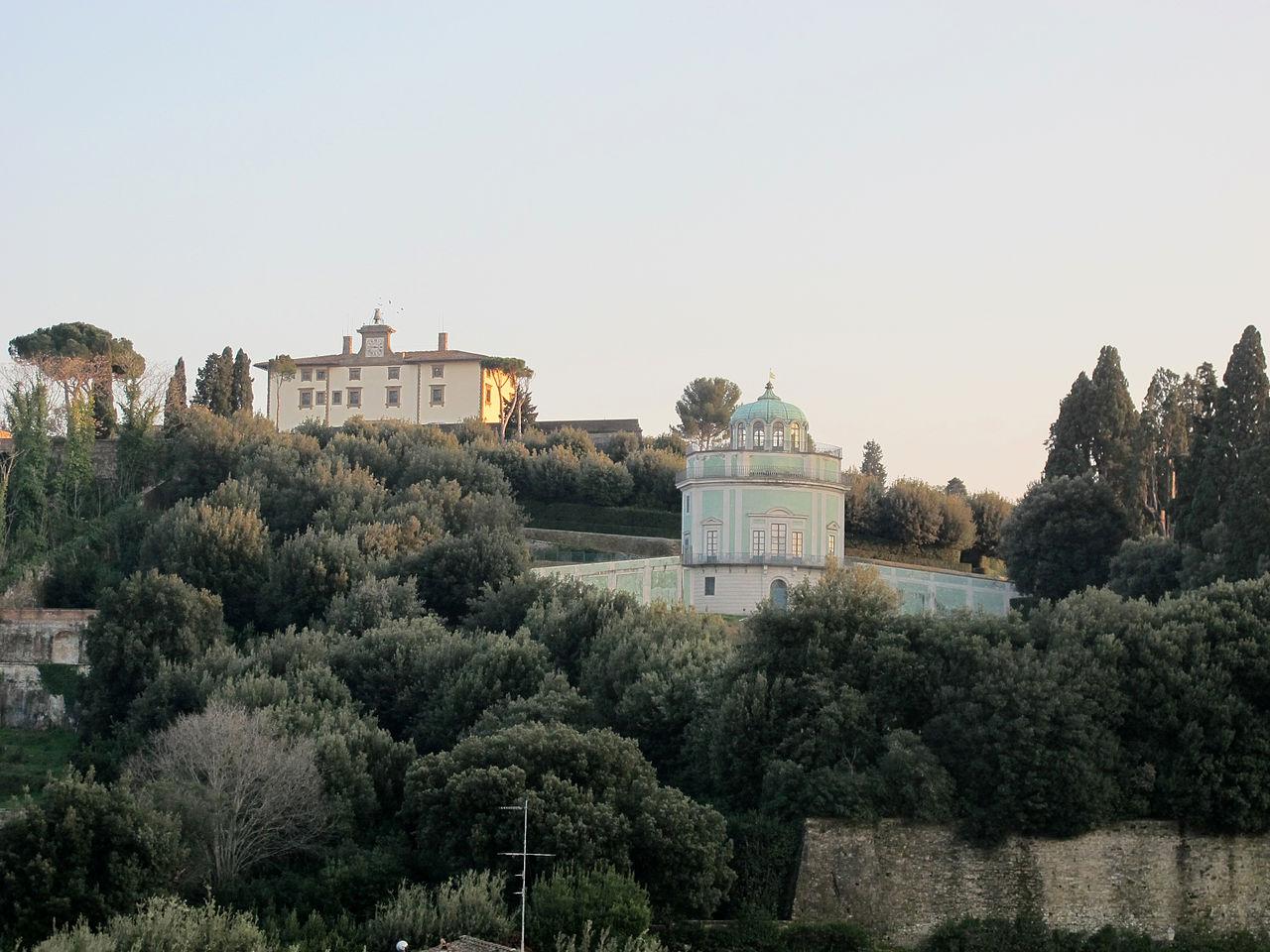 Firenze, Kaffeehaus (Giardino di Boboli) e Forte Belvedere visto da Palazzo Franceschi-Dragomanni
