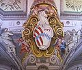 Palazzo corsini, stemma corsini- rinuccini affrescato.JPG