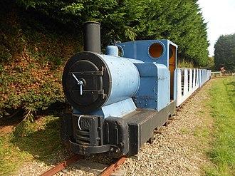 Pallot Heritage Steam Museum - The Simplex locomotive on the narrow gauge railway.