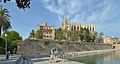 Palma de Mallorca Royal Palace La Almudaina Cathedral.jpg